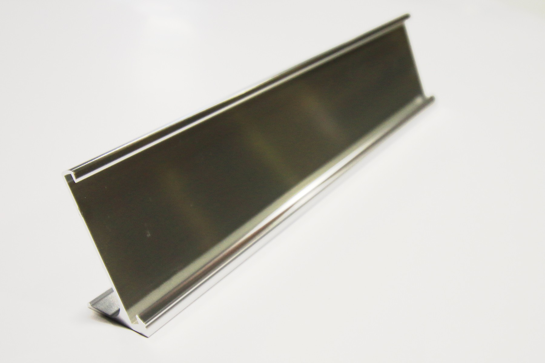 "2"" x 1/8"" x 10"", Desk Holder, Bright Silver"