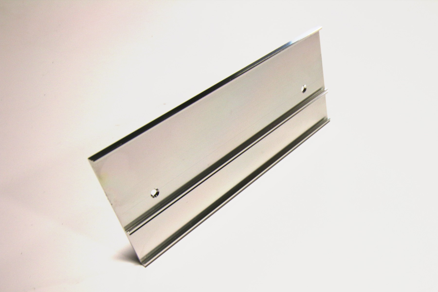 "2"" & 1"" x 1/16"" x 10"" Multi-Wall Bracket, Bright Silver"