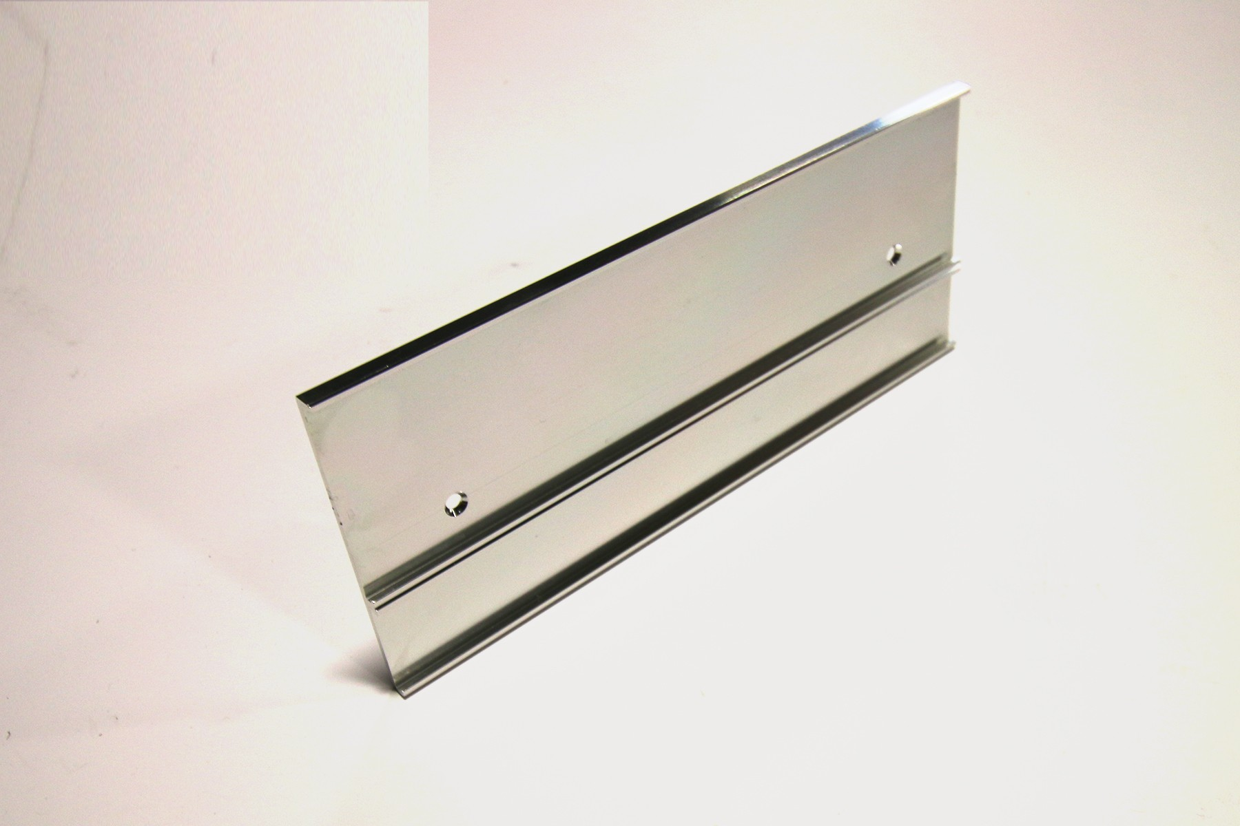 "2"" & 1"" x 1/16"" x 8"" Multi-Wall Holder, Bright Silver"
