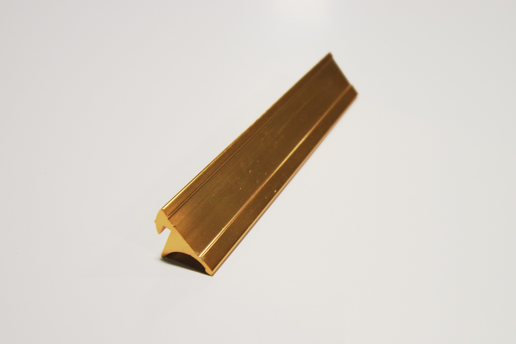 "3/4"" x 1/16"" x 10"" Desk Base, Gold"