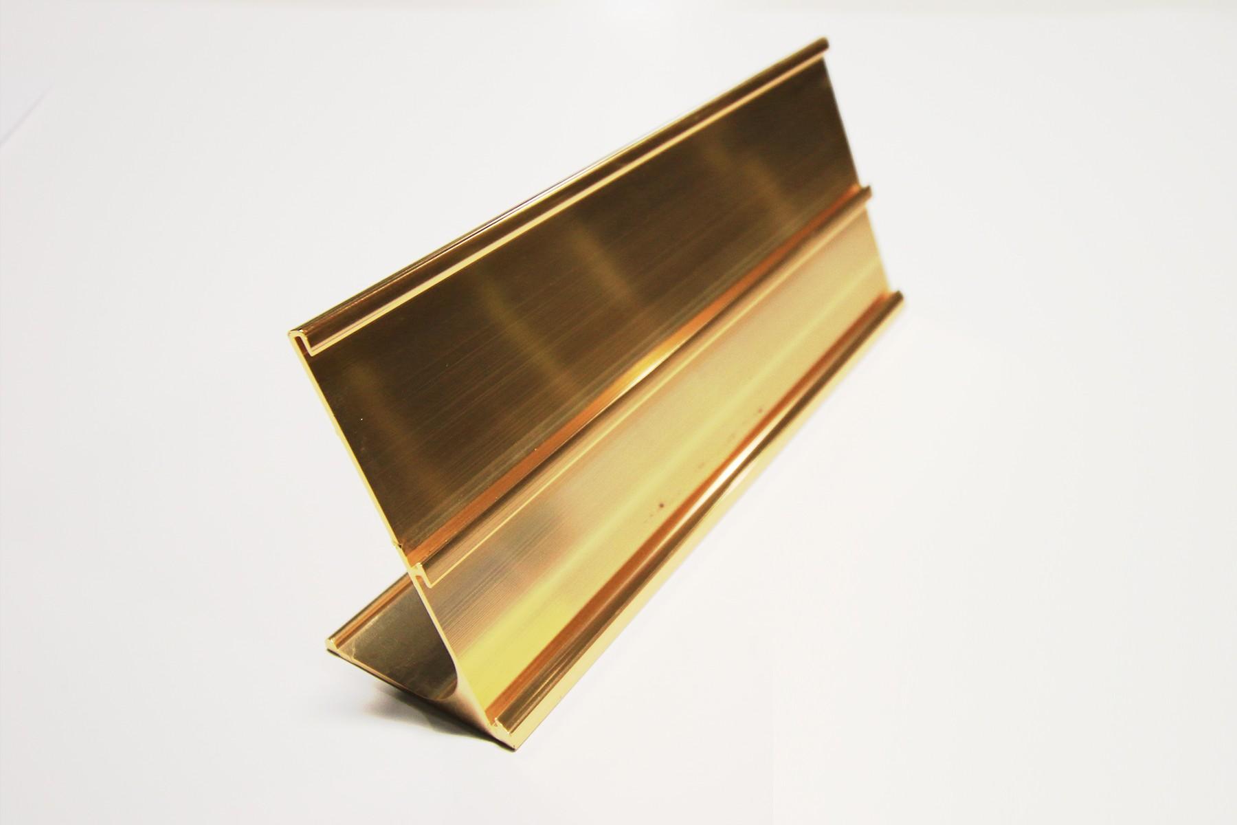2 & 1-1/2 x 9 Multi Desk Holder, Gold