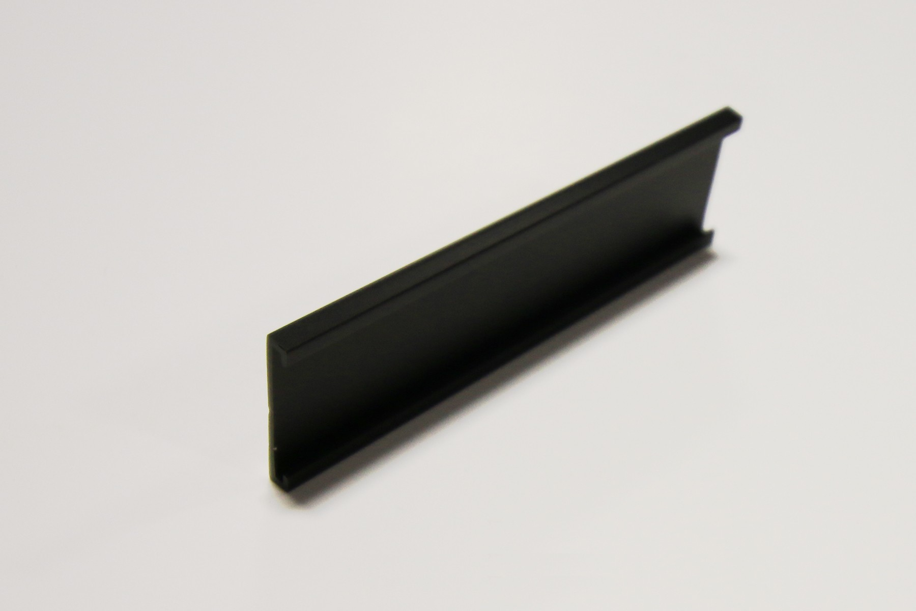 "1"" x 1/16"" x 10"" Wall Holder, Black"