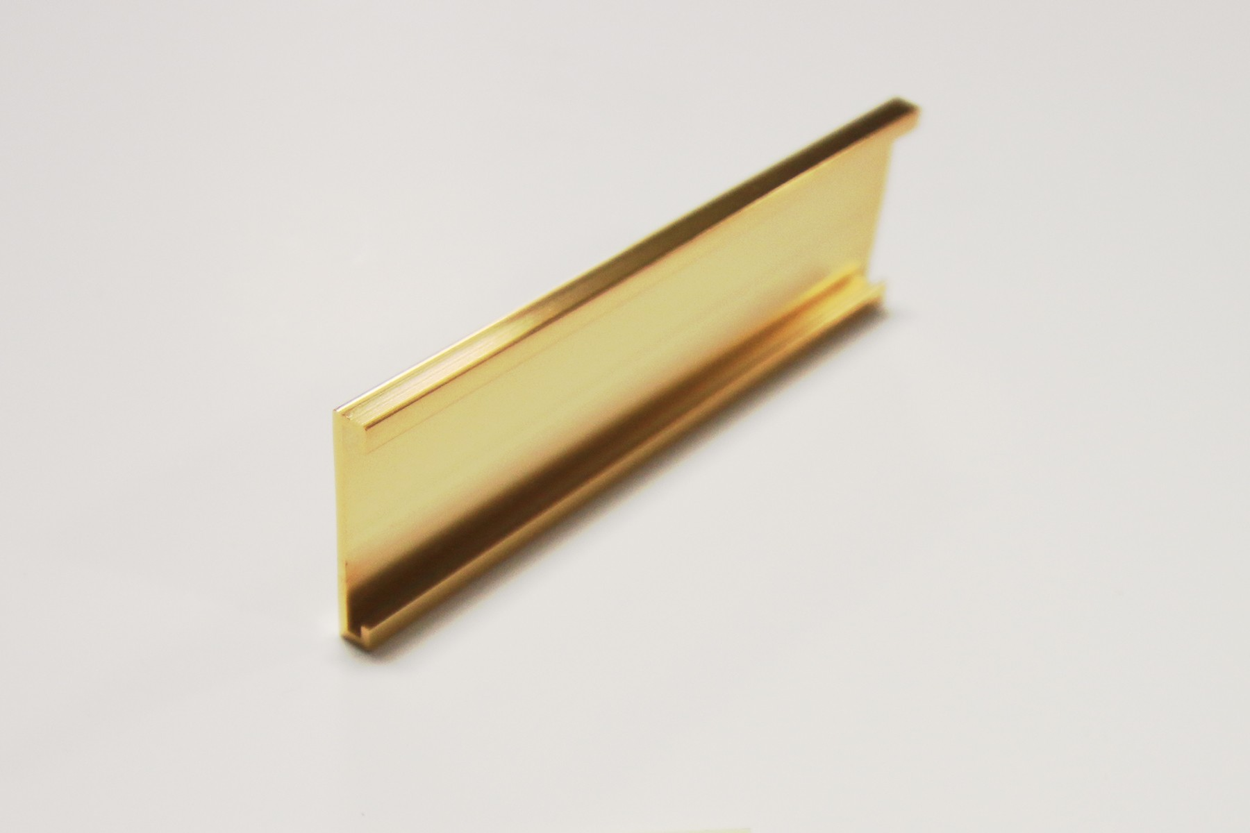 "1"" x 1/16"" x 12"" Wall Holder, Gold"