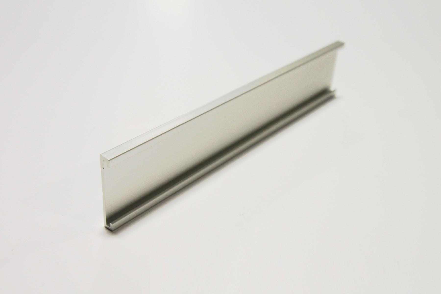1 x 8 Wall Holder, Stn Silver