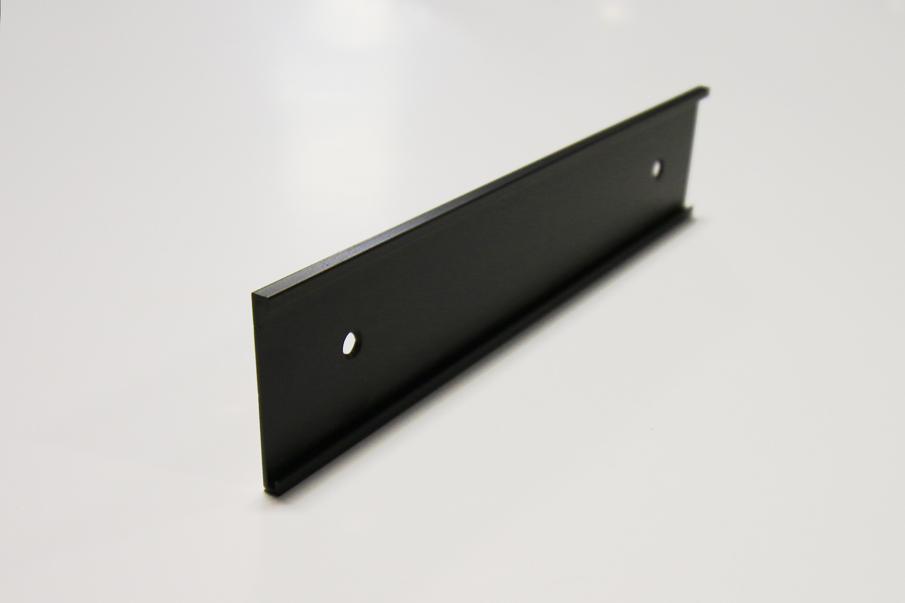 "1 1/2"" x 1/16"" x 8 1/2"" Wall Bracket, Black"