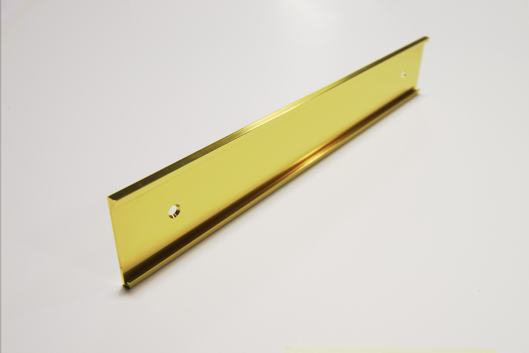 "1 1/2"" x 1/16"" x 9"" Wall Bracket, Bright Yellow Gold"