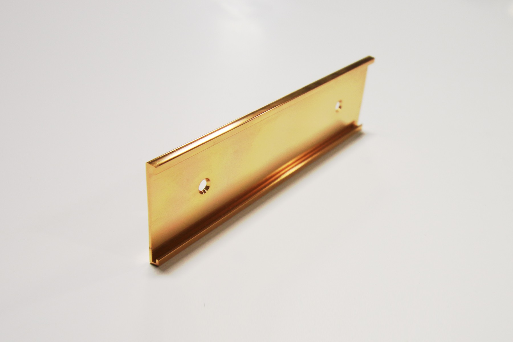 "1 1/2"" x 1/16"" x 8"" Wall Bracket, Gold"