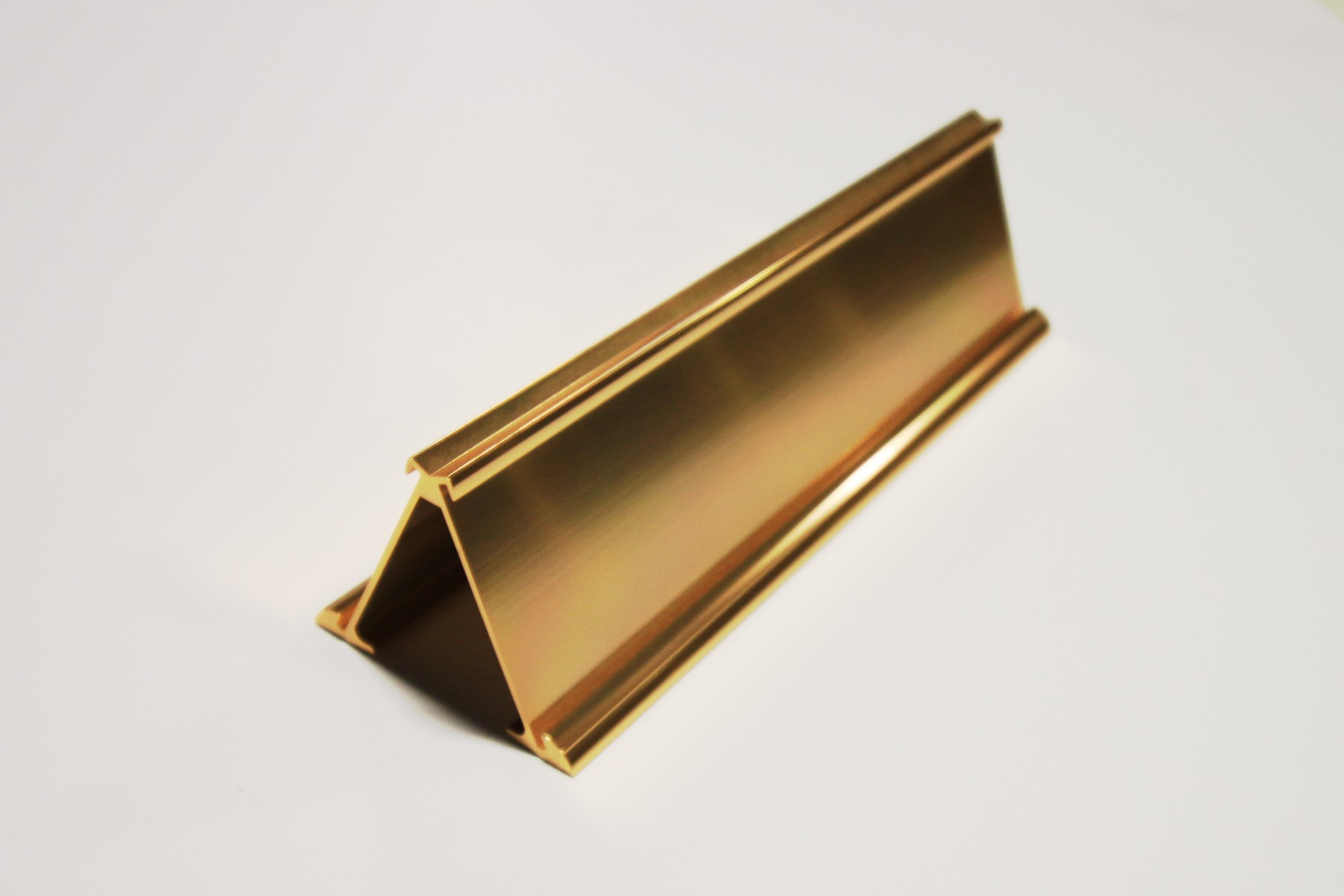 "2"" x 1/16"" x 10"" Double-Sided Desk Holder, Gold"