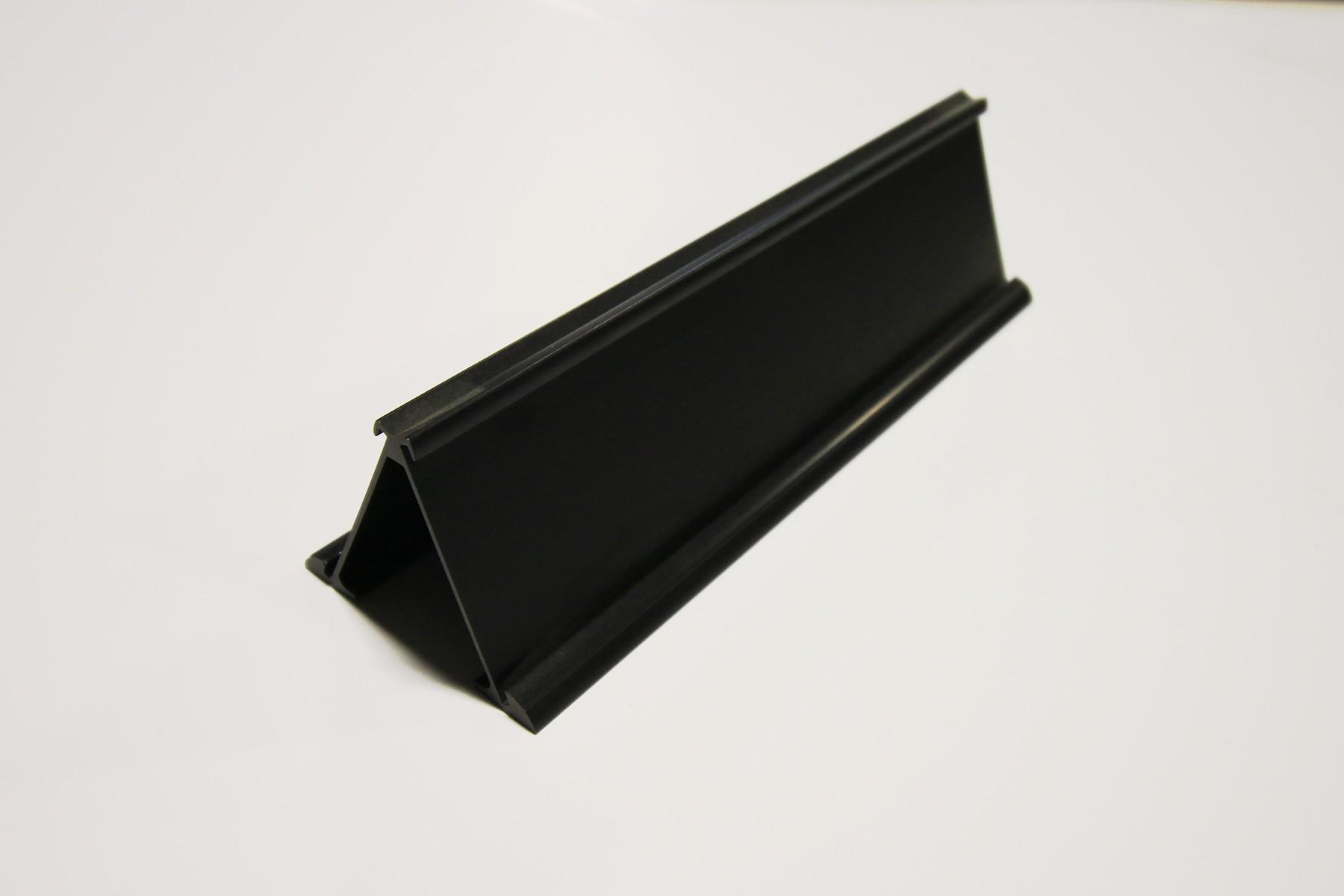"2"" x 1/16"" x 10"" Double-Sided Desk Holder, Black"