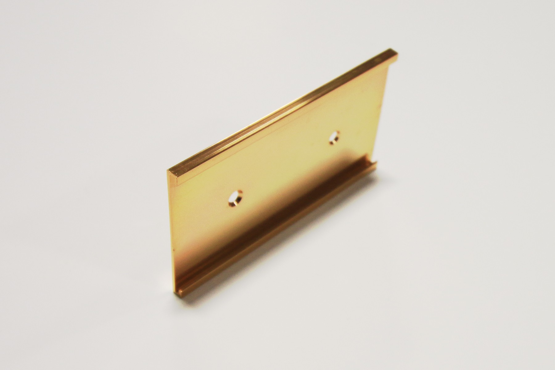 "2"" x 1/16"" x 6"" Wall Bracket, Gold"