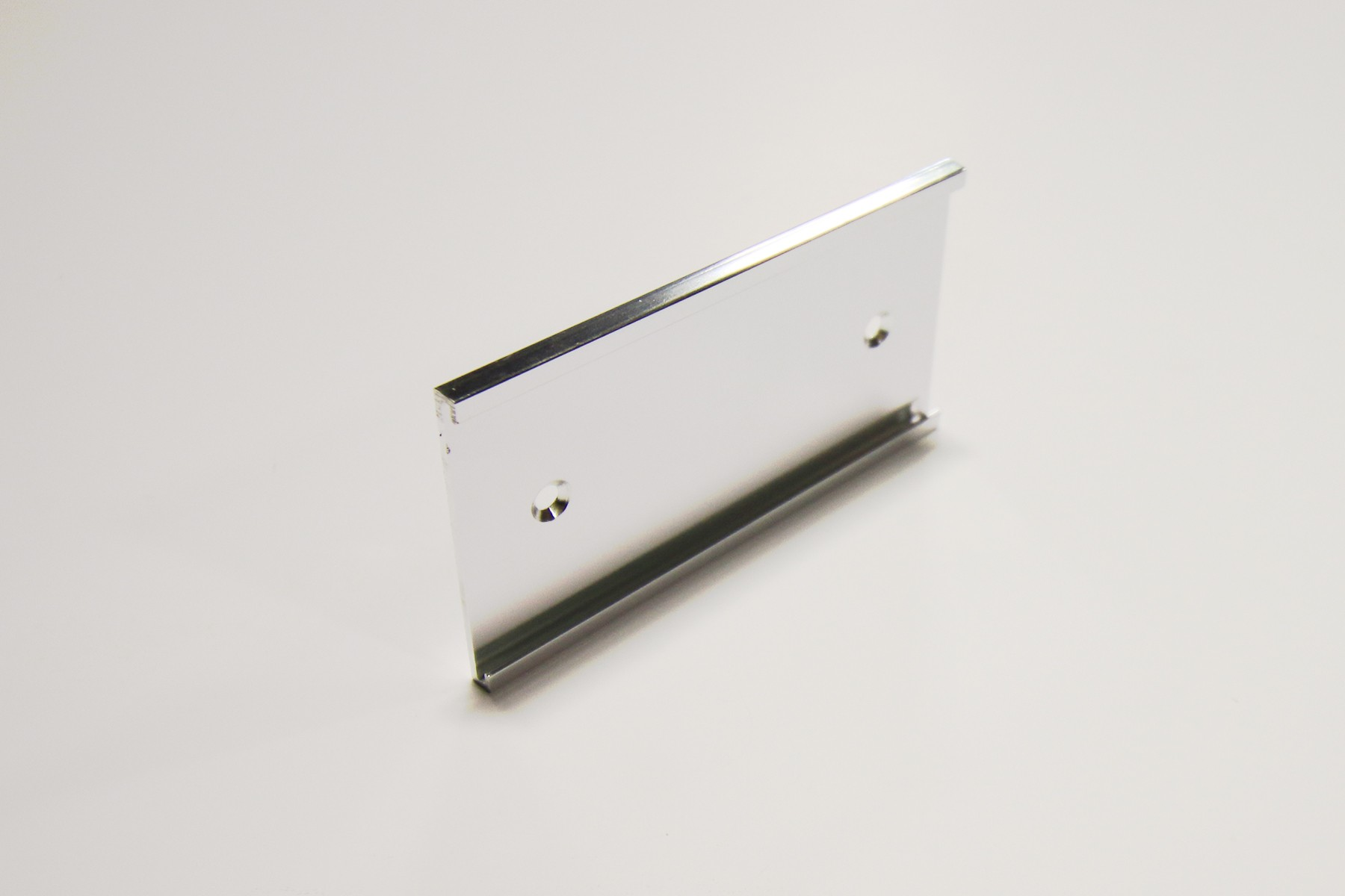 "2"" x 1/16"" x 6"" Wall Holder, Bright Silver"