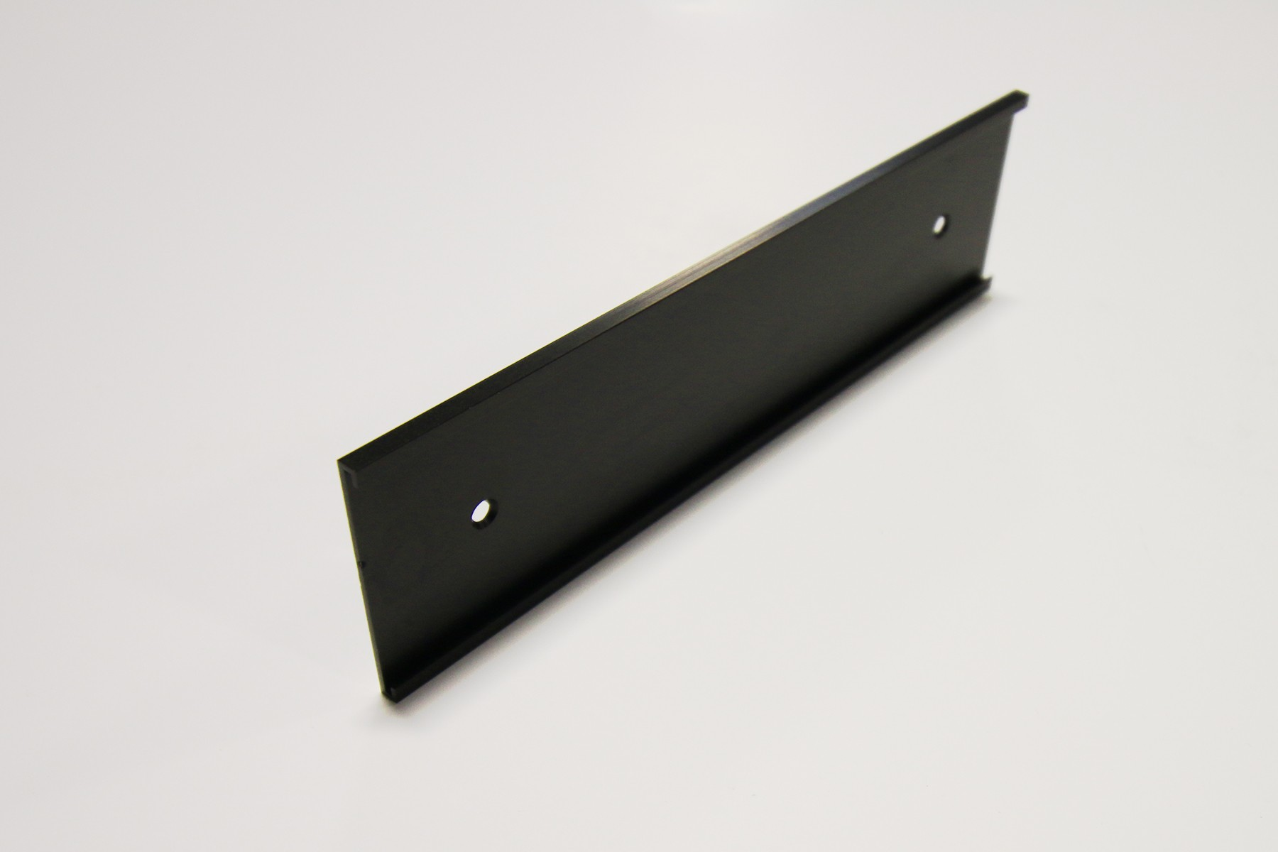 "2"" x 1/16"" x 9"" Wall Bracket, Black"