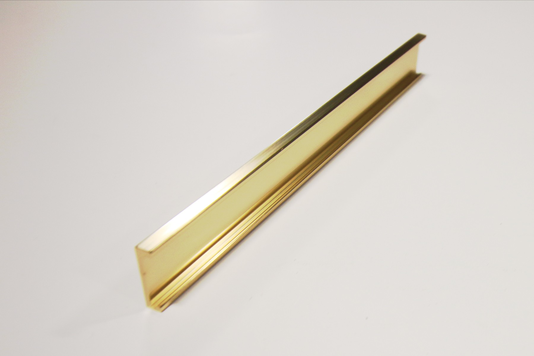 "3/4"" x 1/16"" x 12"" Wall Holder, Gold"