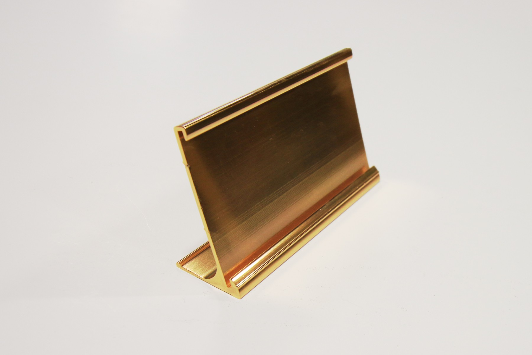 "2"" x 1/16"" x 10"" Desk Holder, Gold"