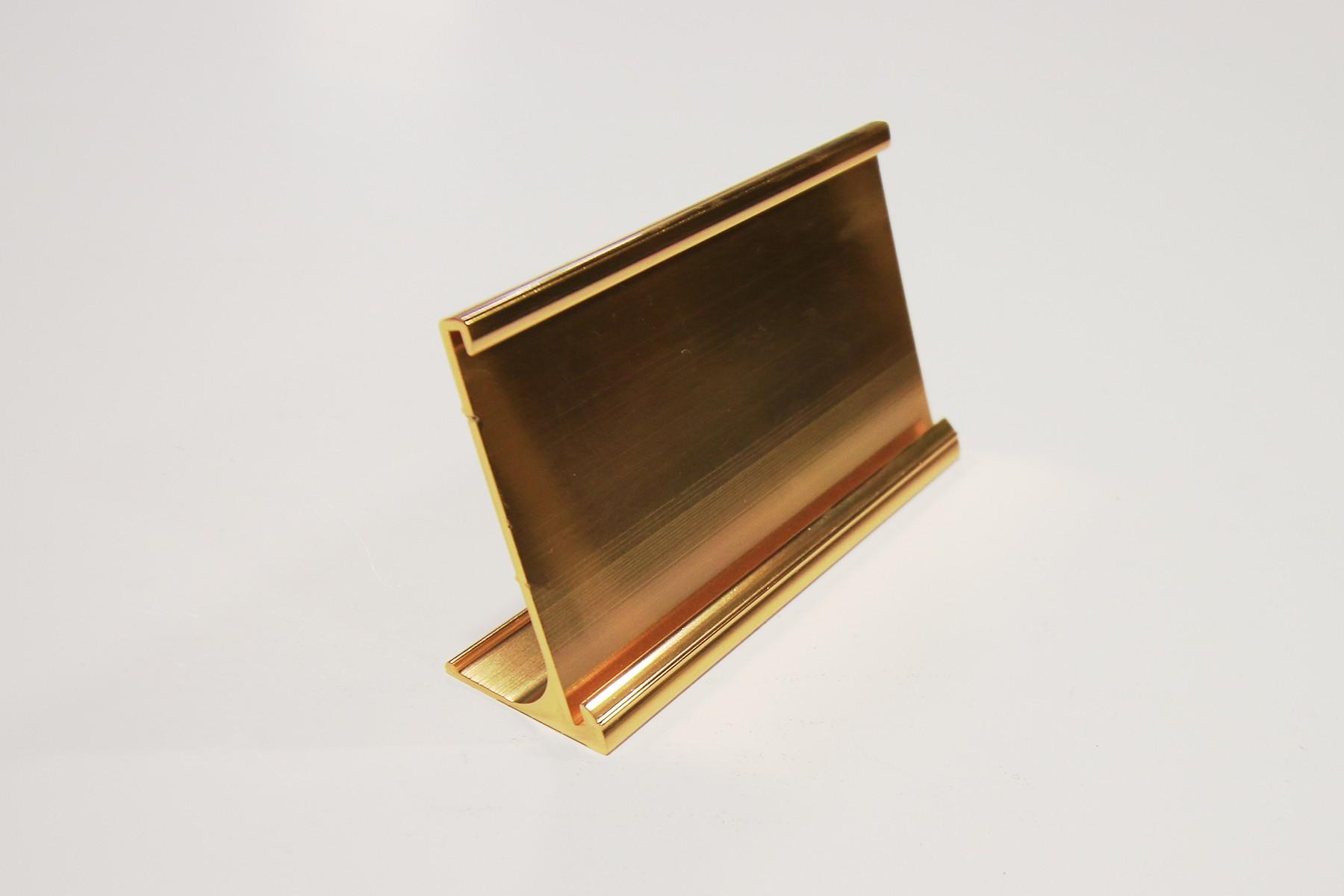 2 x 10 Desk Holder, Gold