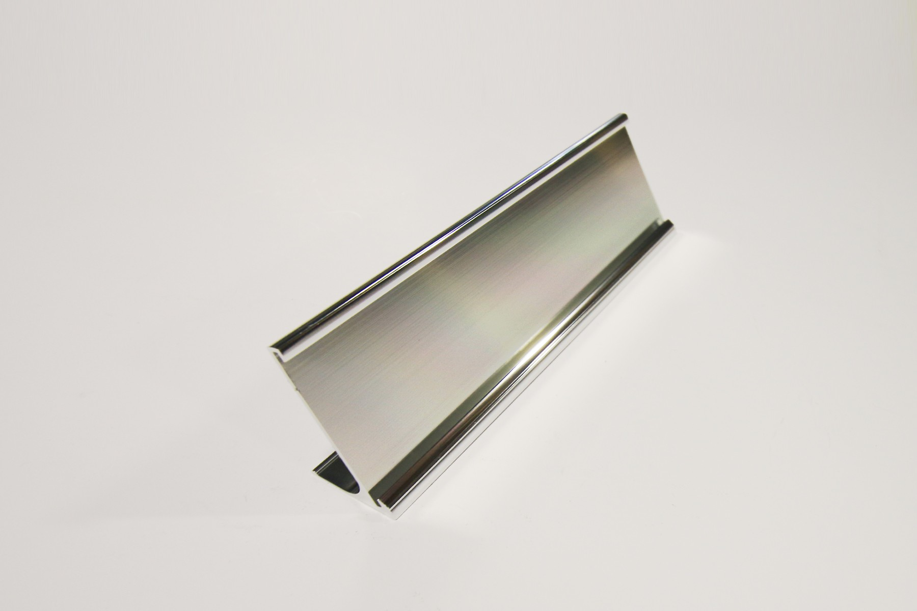 "2"" x 1/16"" x 10"" Desk Holder, Bright Silver"