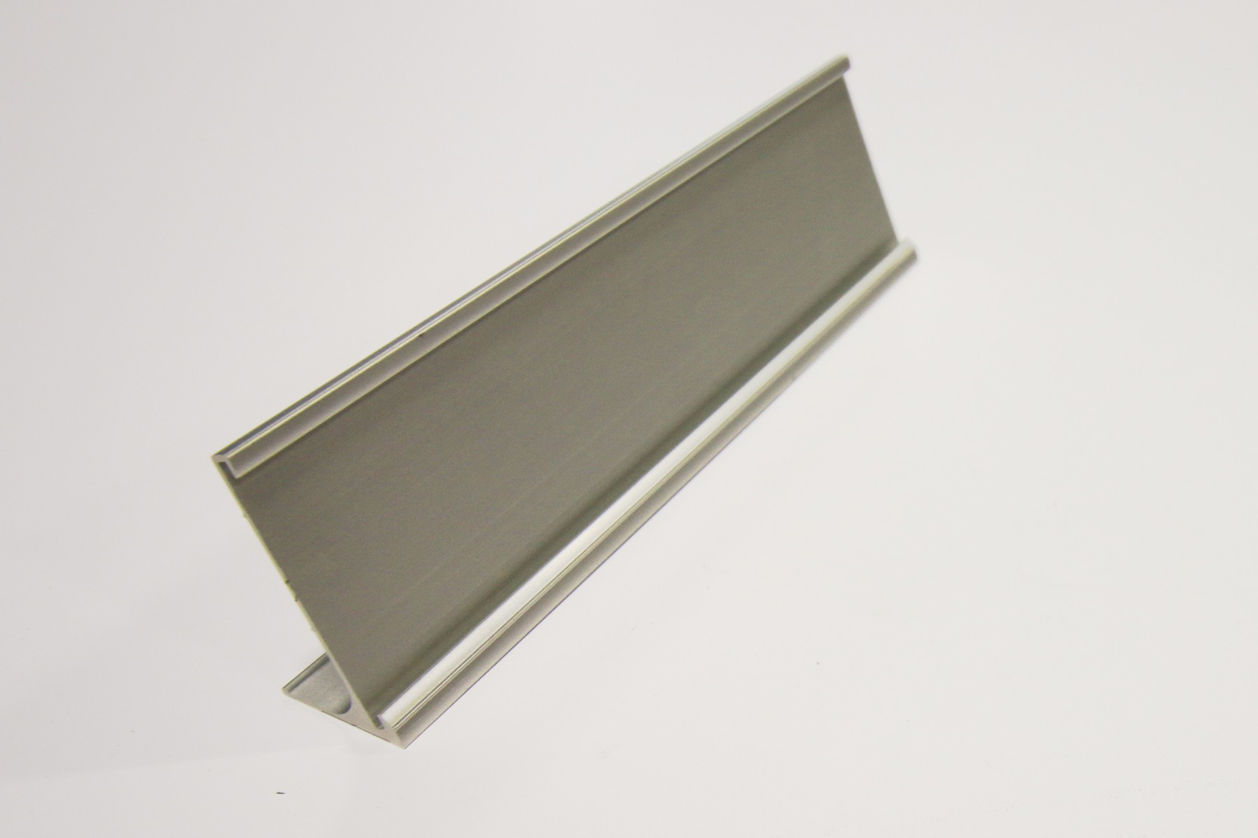 "2"" x 1/16"" x 10"" Desk Holder, Satin Silver"