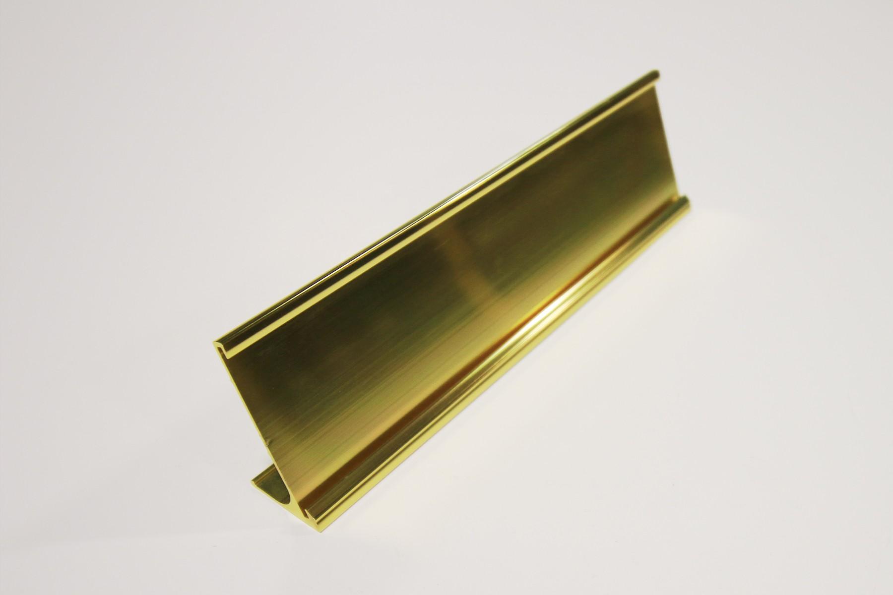2 x 8 Desk Holder, Bright Yellow Gold