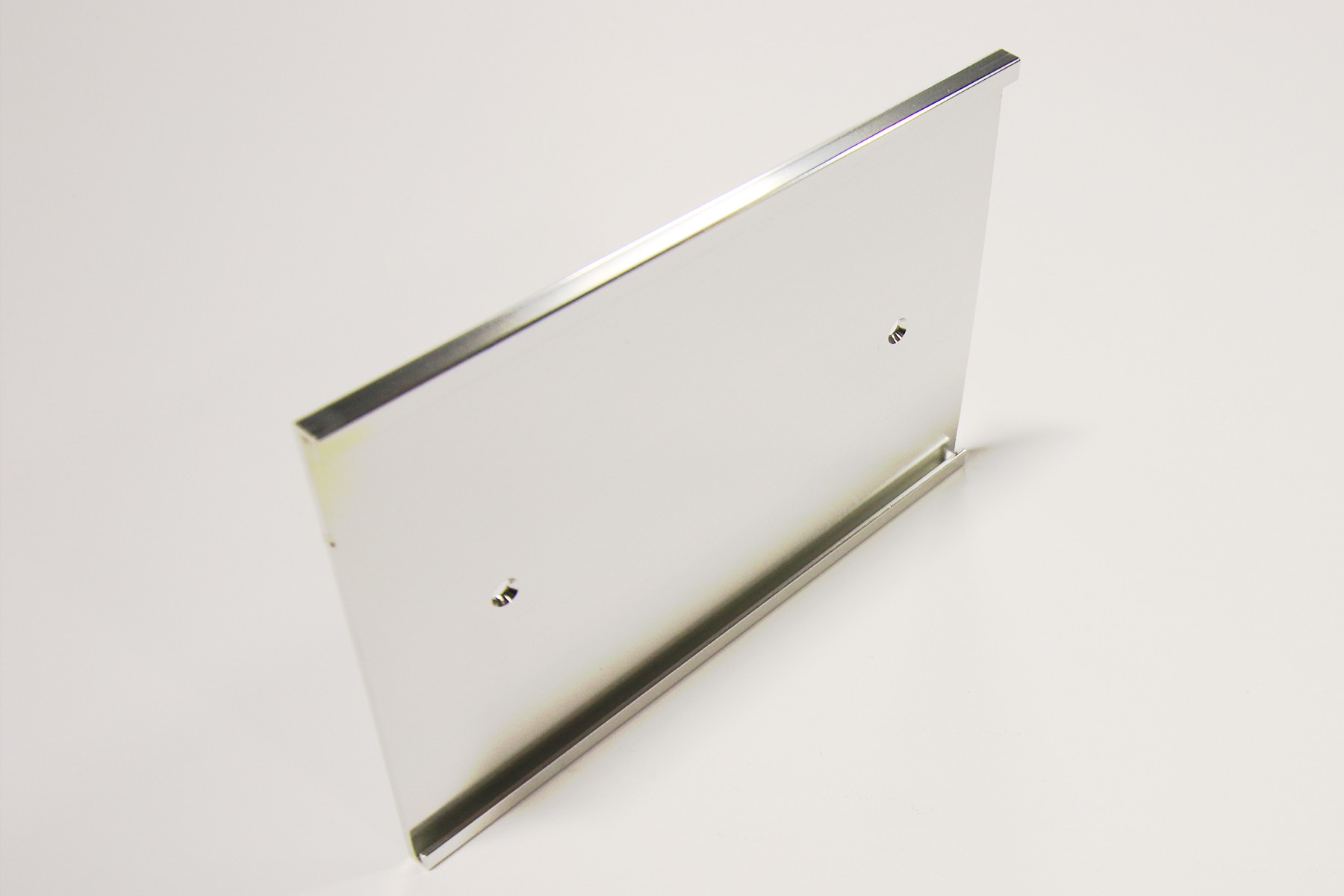 "4"" x 1/16"" x 6"" Wall Bracket, Bright Silver"