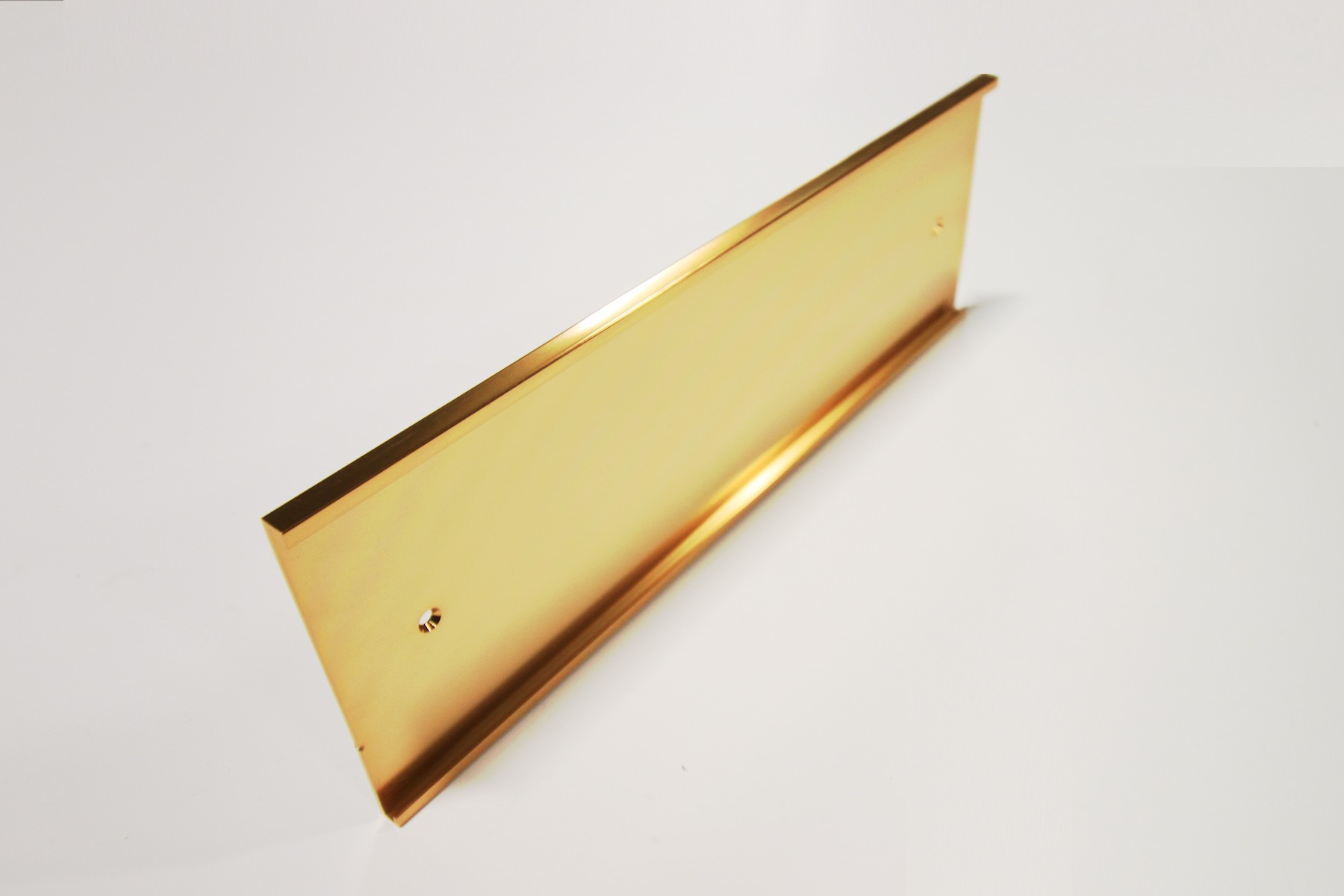 "4"" x 1/8"" x 12"" Wall Holder, Gold"