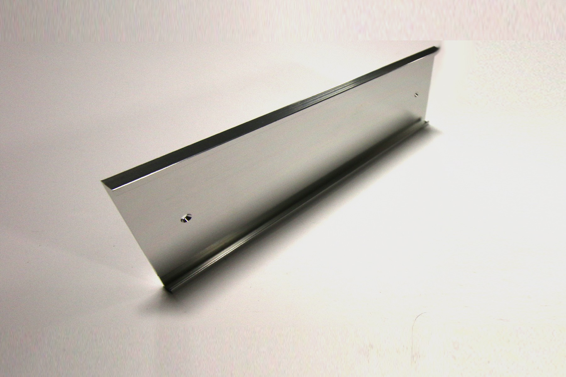 "4"" x 1/8"" x 12"" Wall Holder, Bright Silver"
