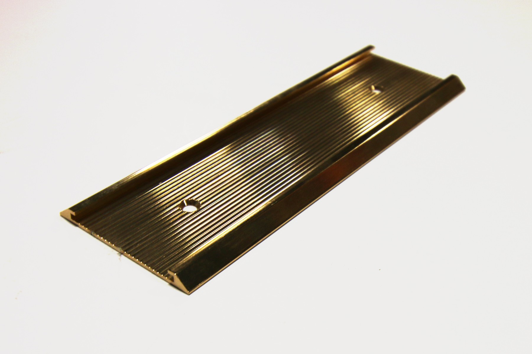 "1 1/2"" x 1/16"" x 10"" Ribbed Wall Holder, Gold"