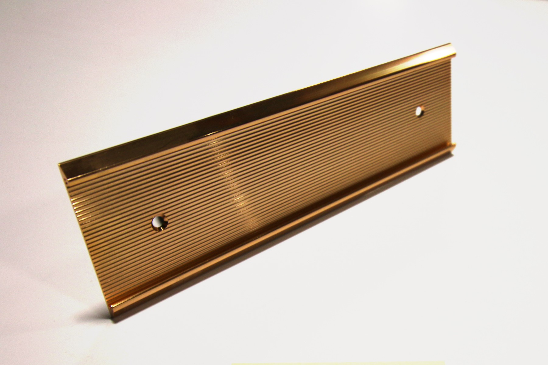 "2"" x 1/16"" x 10"" Ribbed Wall Holder, Gold"
