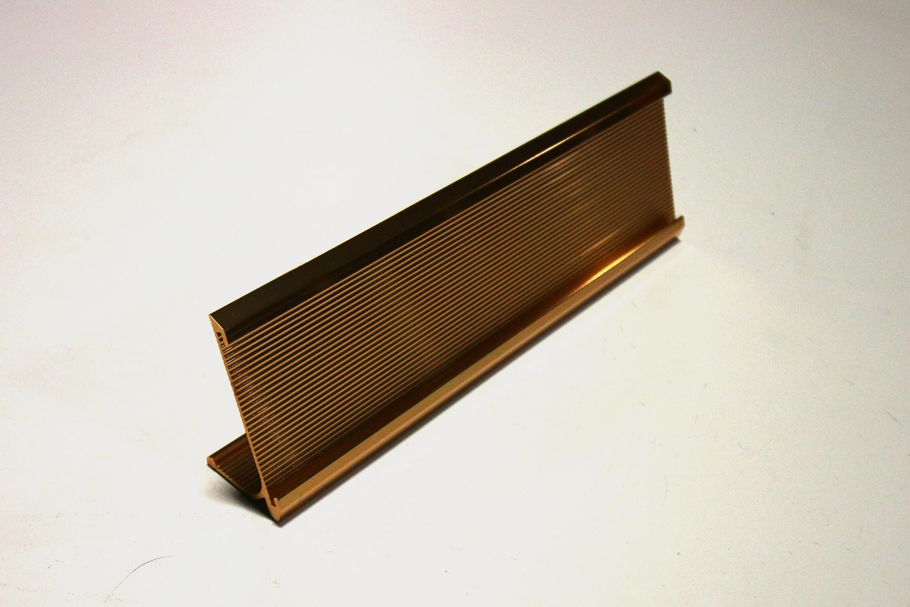 2 x 10 Ribbed Desk Holder, Gold