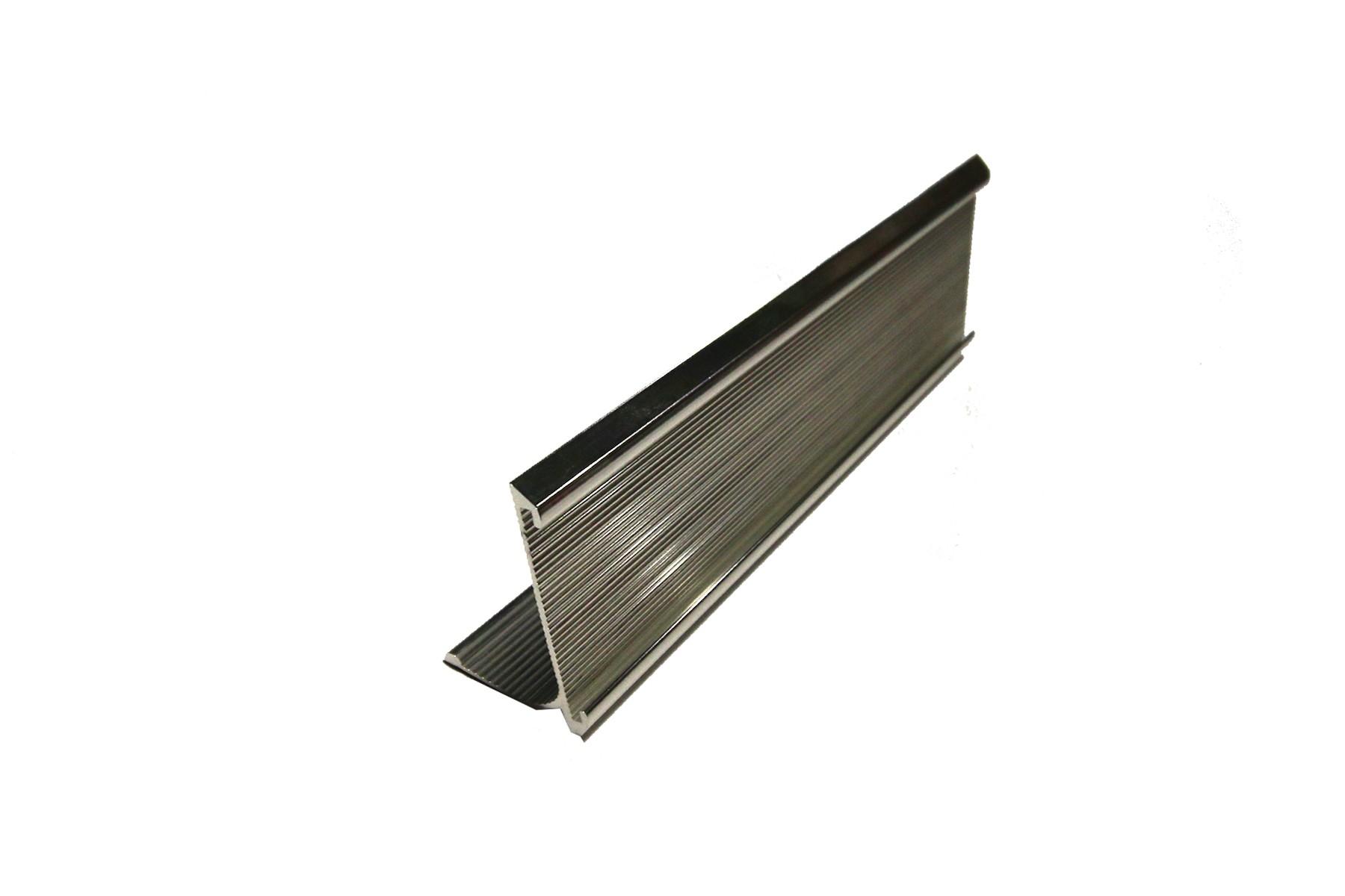 2 x 8 Ribbed Desk Holder, Silver