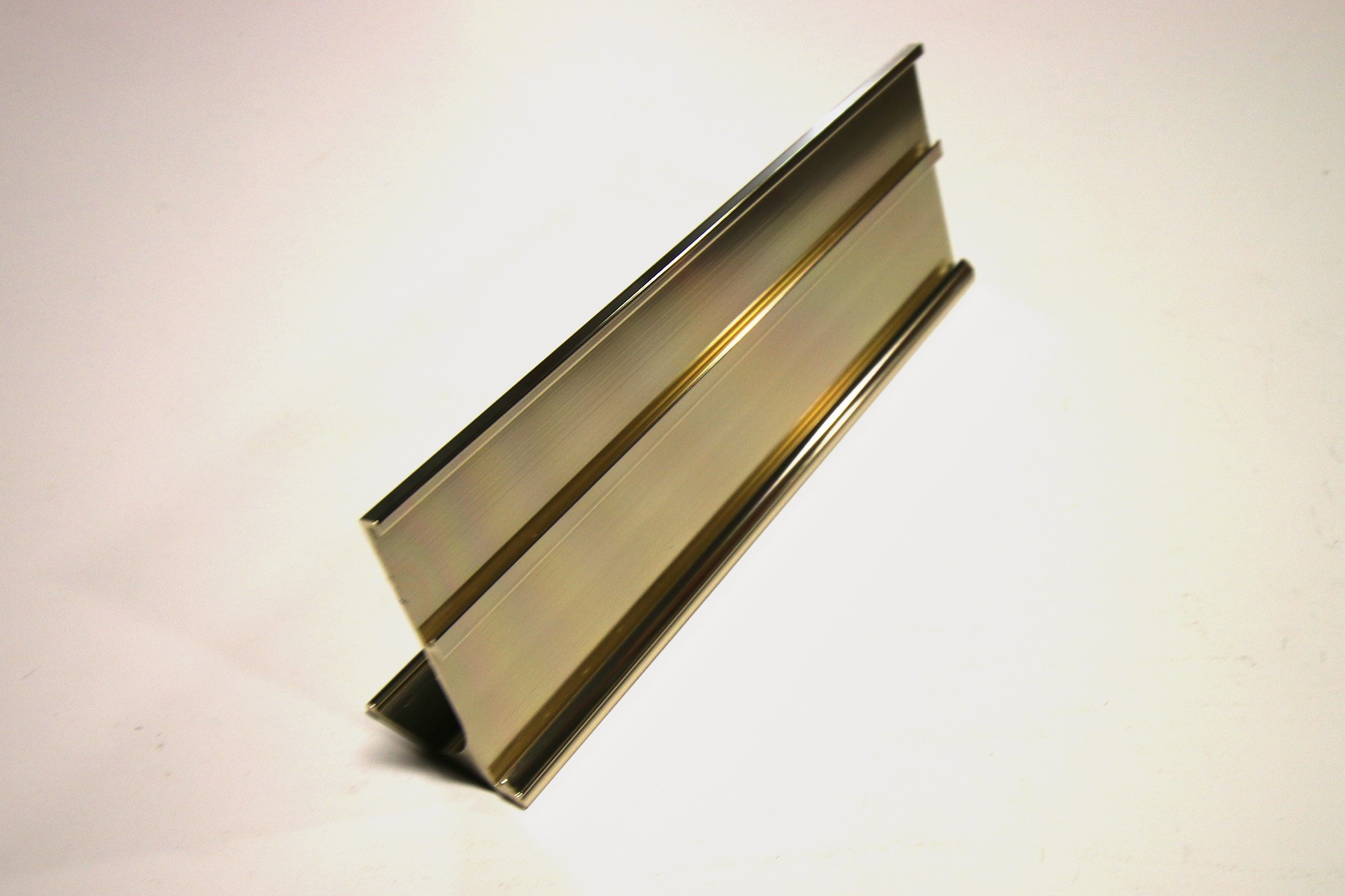 "1"" & 1 1/4"" x 1/16"" x 8"" Multi-Desk Holder, Gold"