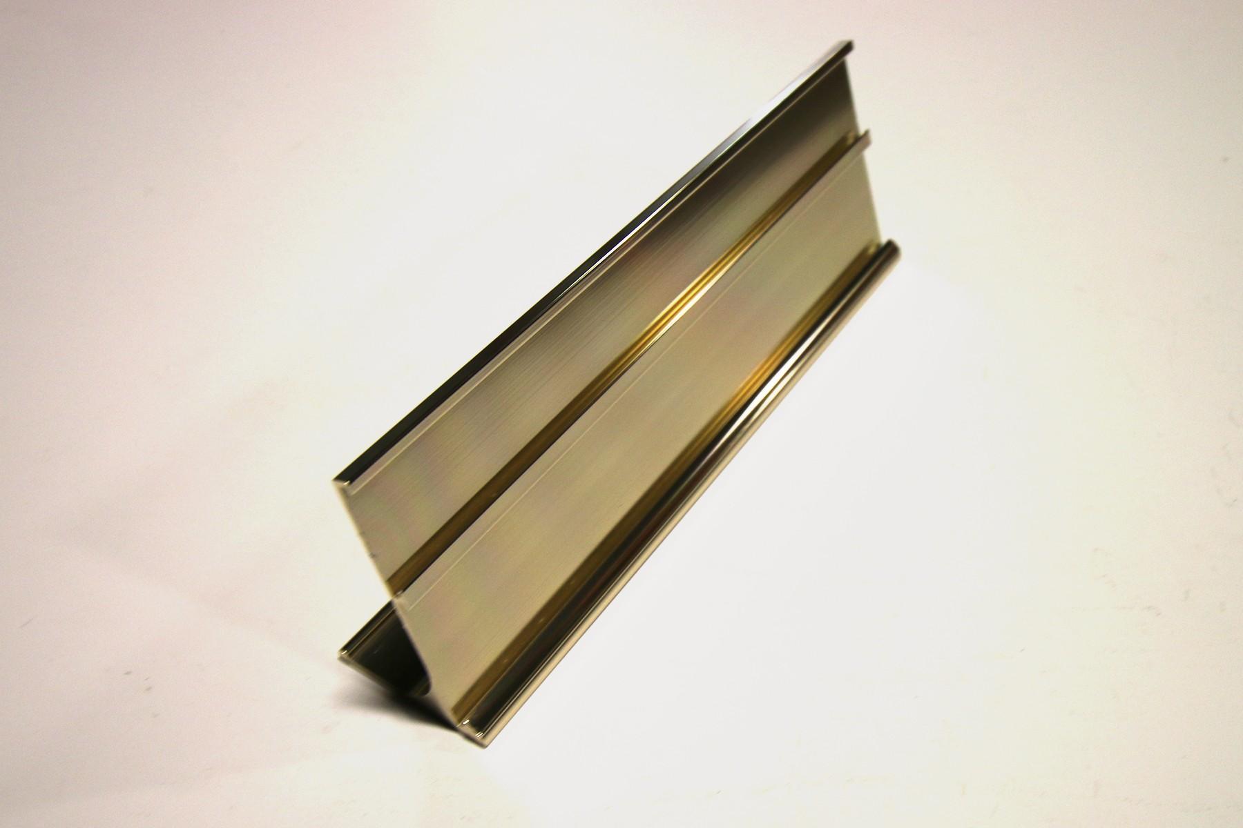 1 & 1-1/4 x 8 Multi-Desk Holder, Gold