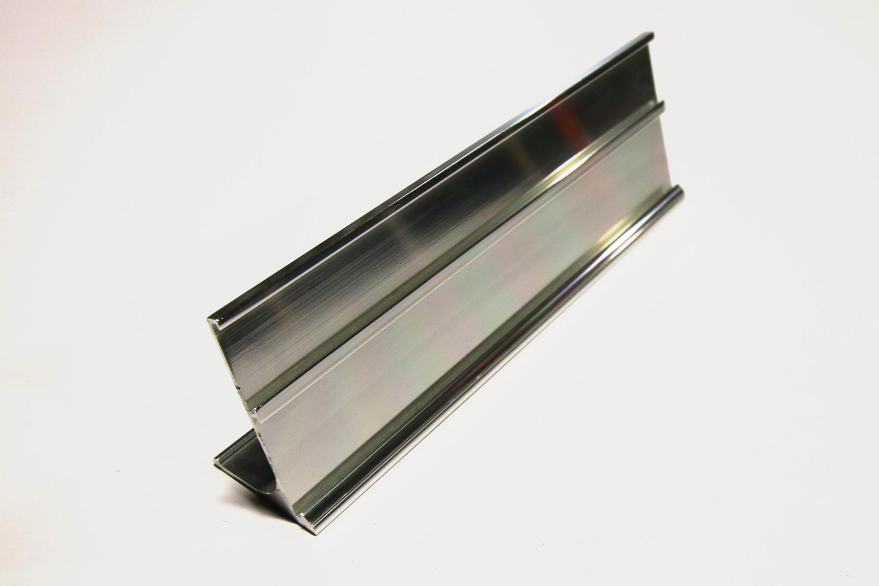 1 & 1-1/4 x 8 Multi-Desk Holder, Silver