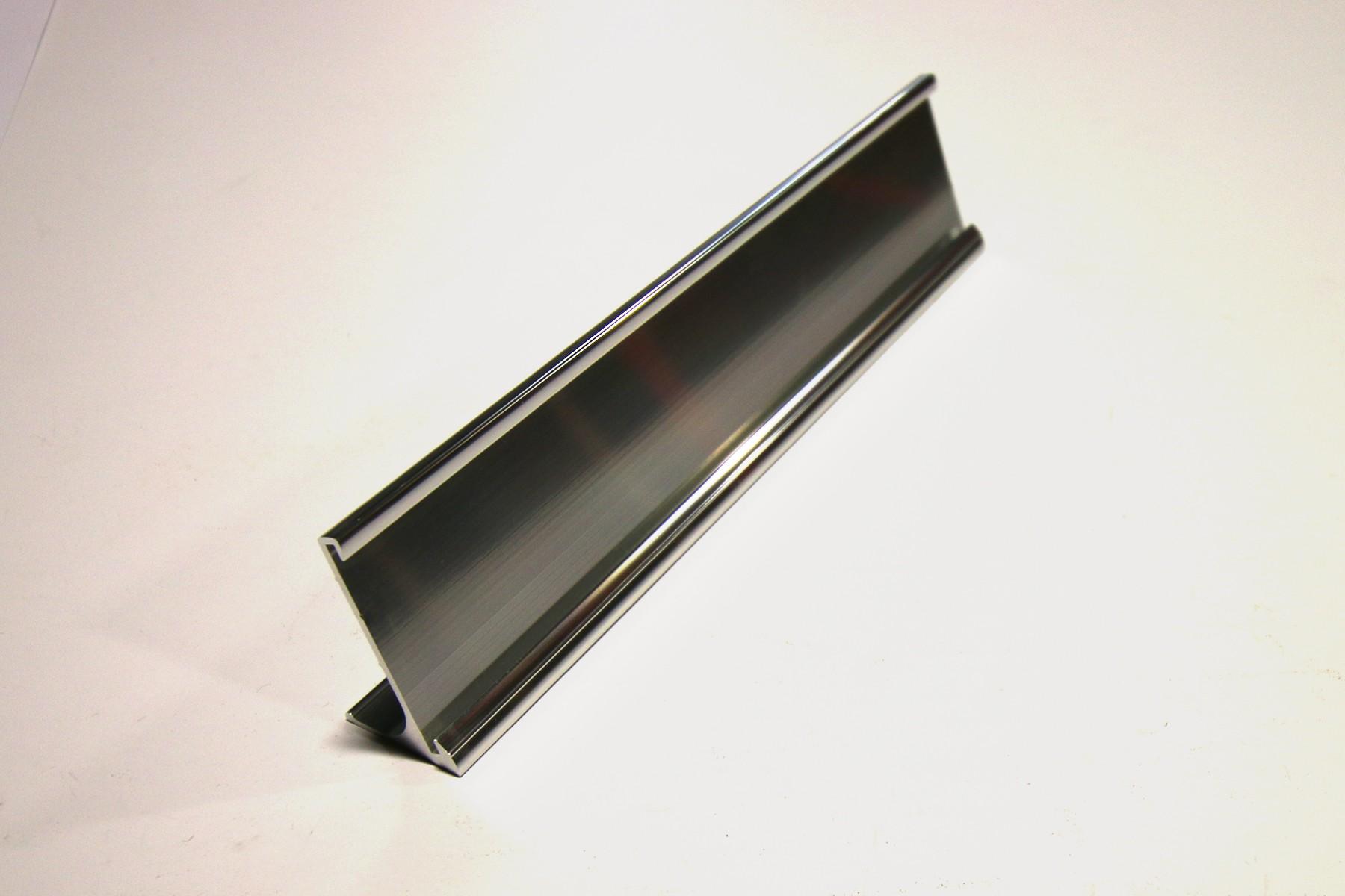 1-1/2 x 12 Desk Holder, Silver