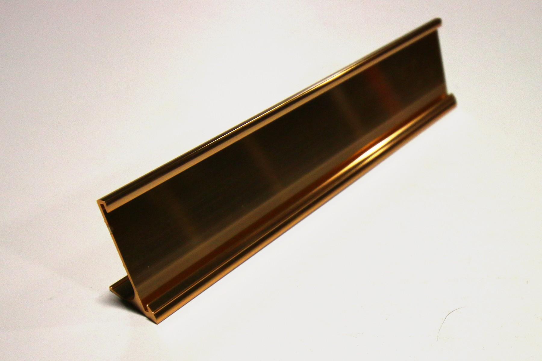 1-1/2 x 8 Desk Holder, Gold