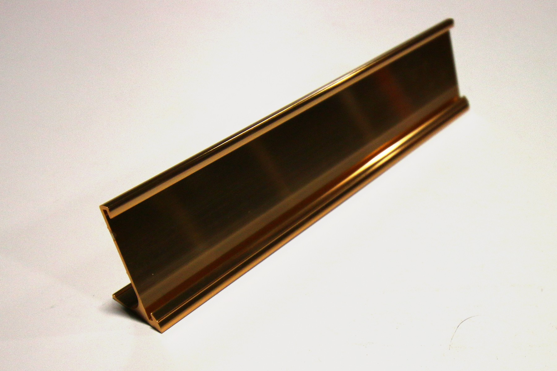 "1 1/2"" x 1/16"" x 9"" Desk Holder, Gold"