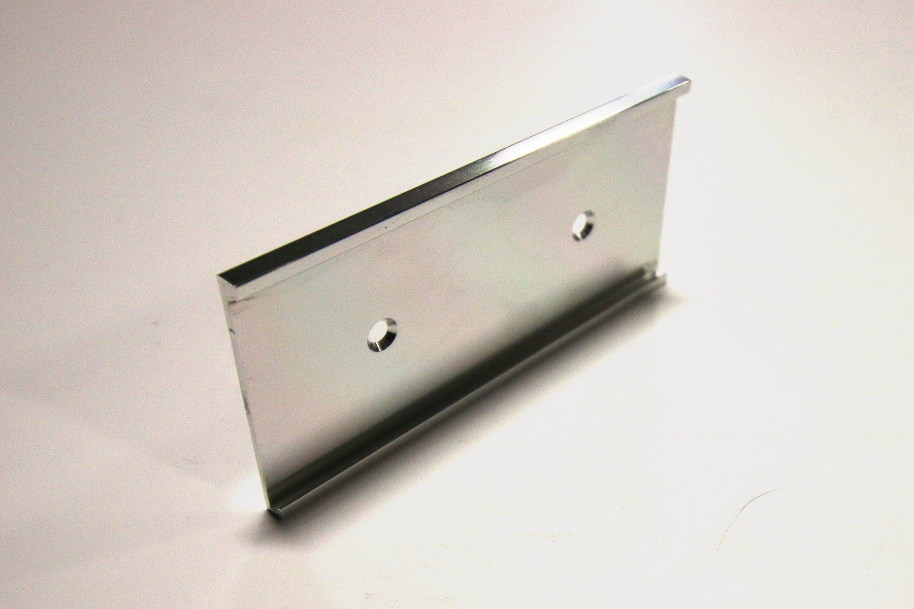 "1 3/4"" x 1/16"" x 8"" Wall Bracket, Bright Silver"