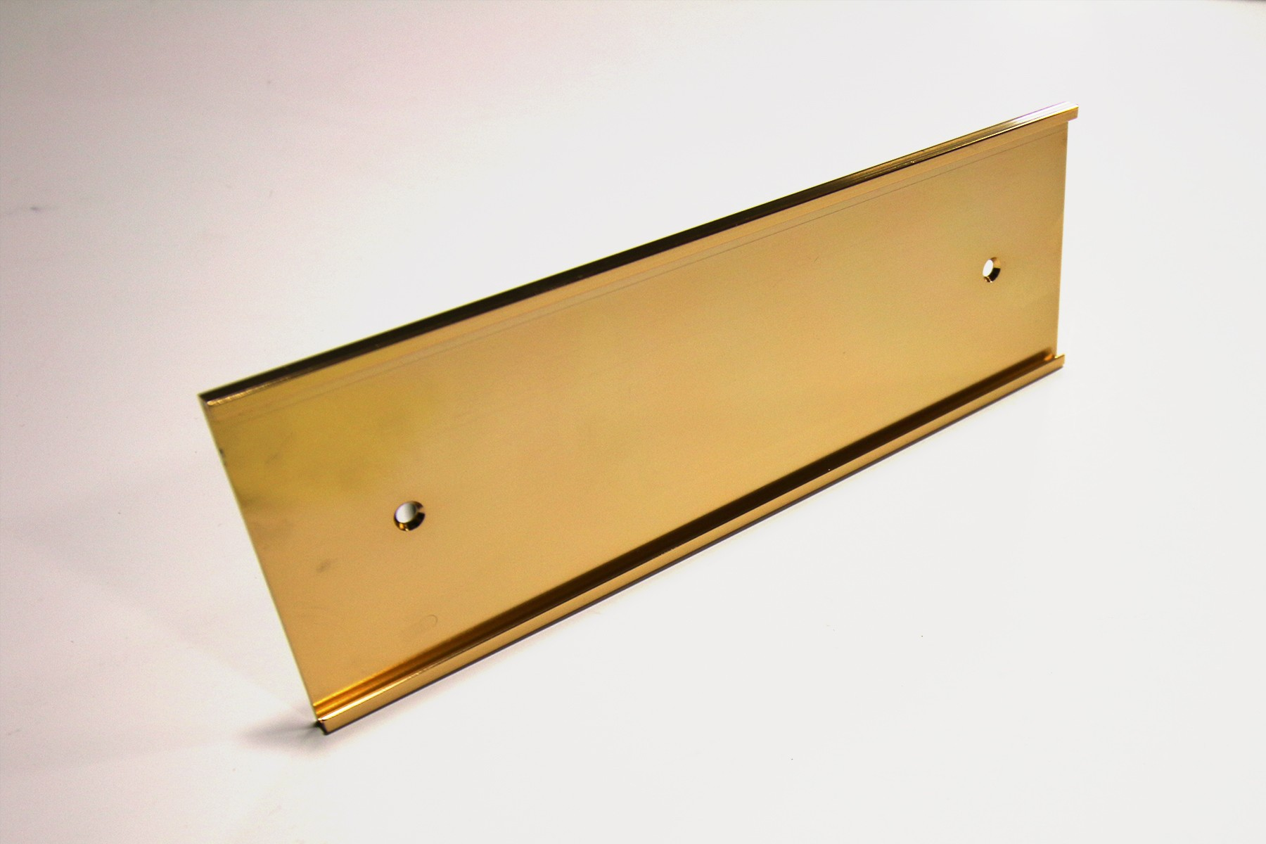 "2 1/2"" x 1/16"" x 10"" Wall Bracket, Gold"