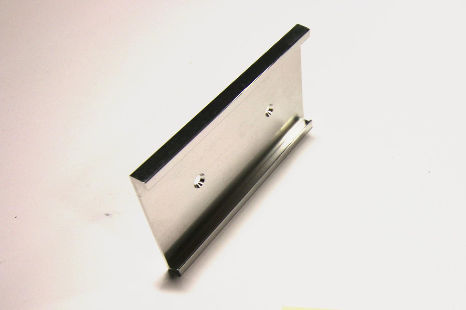 "2"" x 1/8"" x 4"" Wall Holder, Bright Silver"