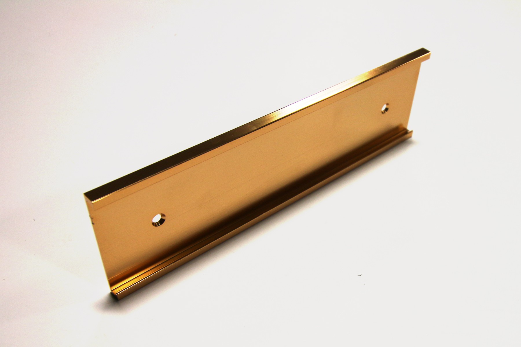 "2"" x 1/8"" x 8"" Wall Bracket, Gold"