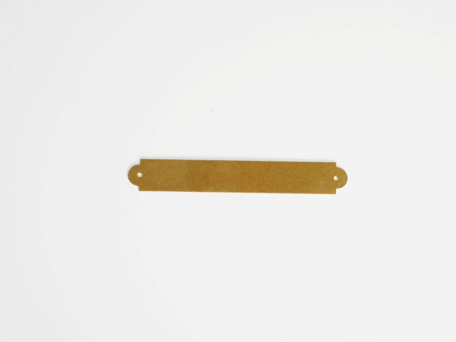 "3/8"" x 2 1/2"" Brass Ornamental Plate"
