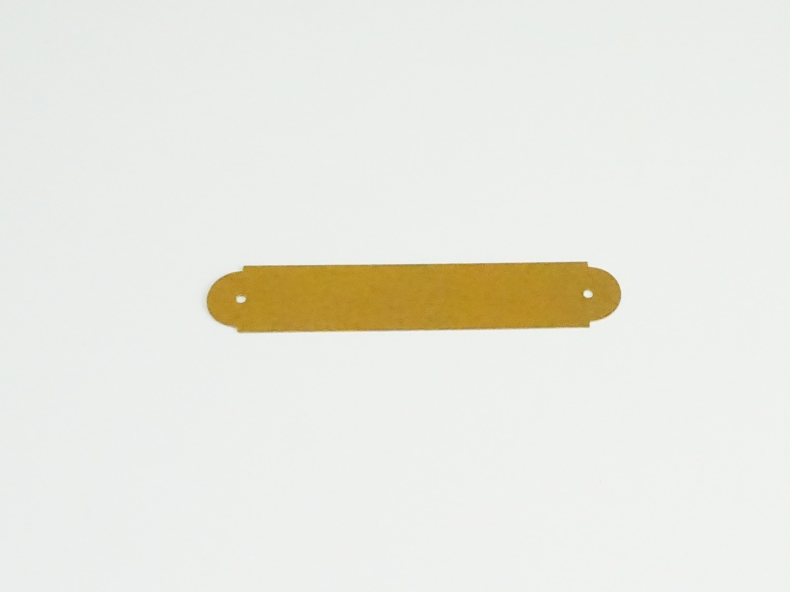 "3/4"" x 4"" Brass Ornamental Plate"