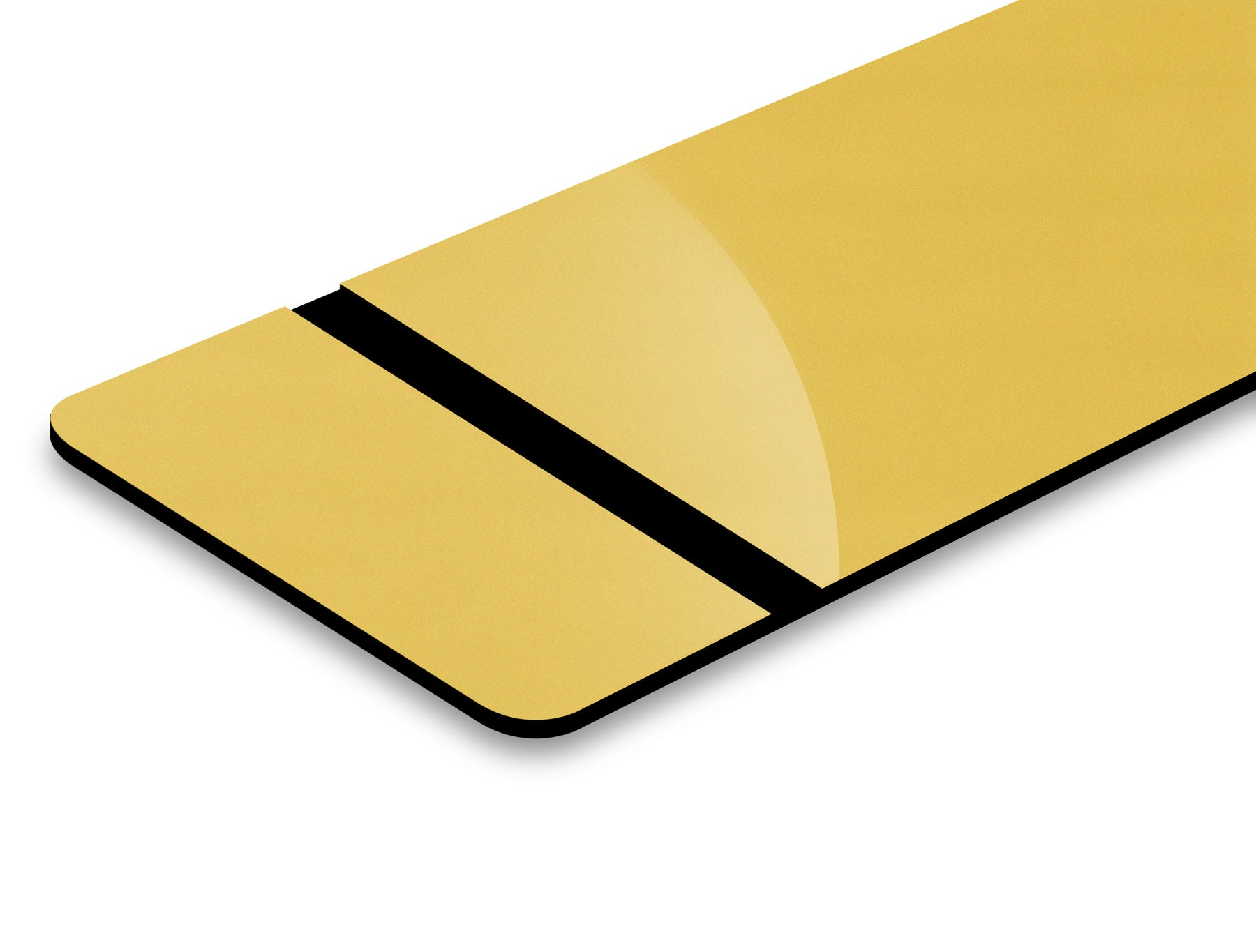 "Trophy Gold/Black 0.02"" with Adhesive"