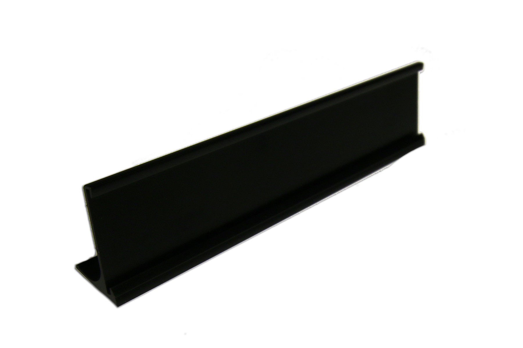 "1 1/2"" x 1/16"" x 10"" Desk Holder, Black"