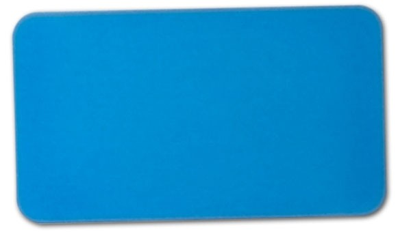 "Anodized Aluminum, Blue (0.02""), 2"" x 3 1/2"""