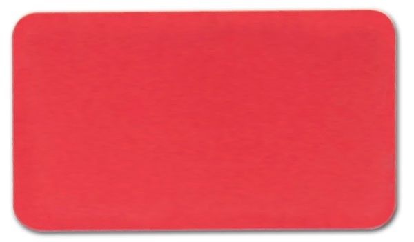 "Anodized Aluminum, Red (0.02""), 2"" x 3 1/2"""