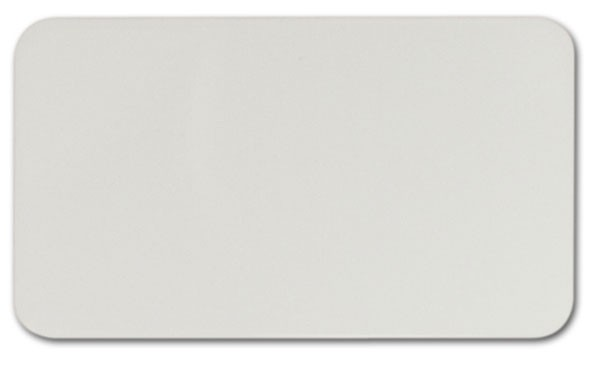 "Sublimation Aluminum, Gloss White (0.015)"", 2"" x 3 1/2"""