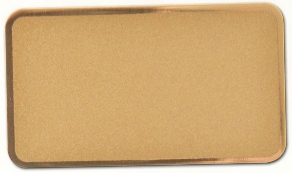 "Brass-Coated Steel, Frosted Gold (0.015""), 2"" x 3 1/2"""