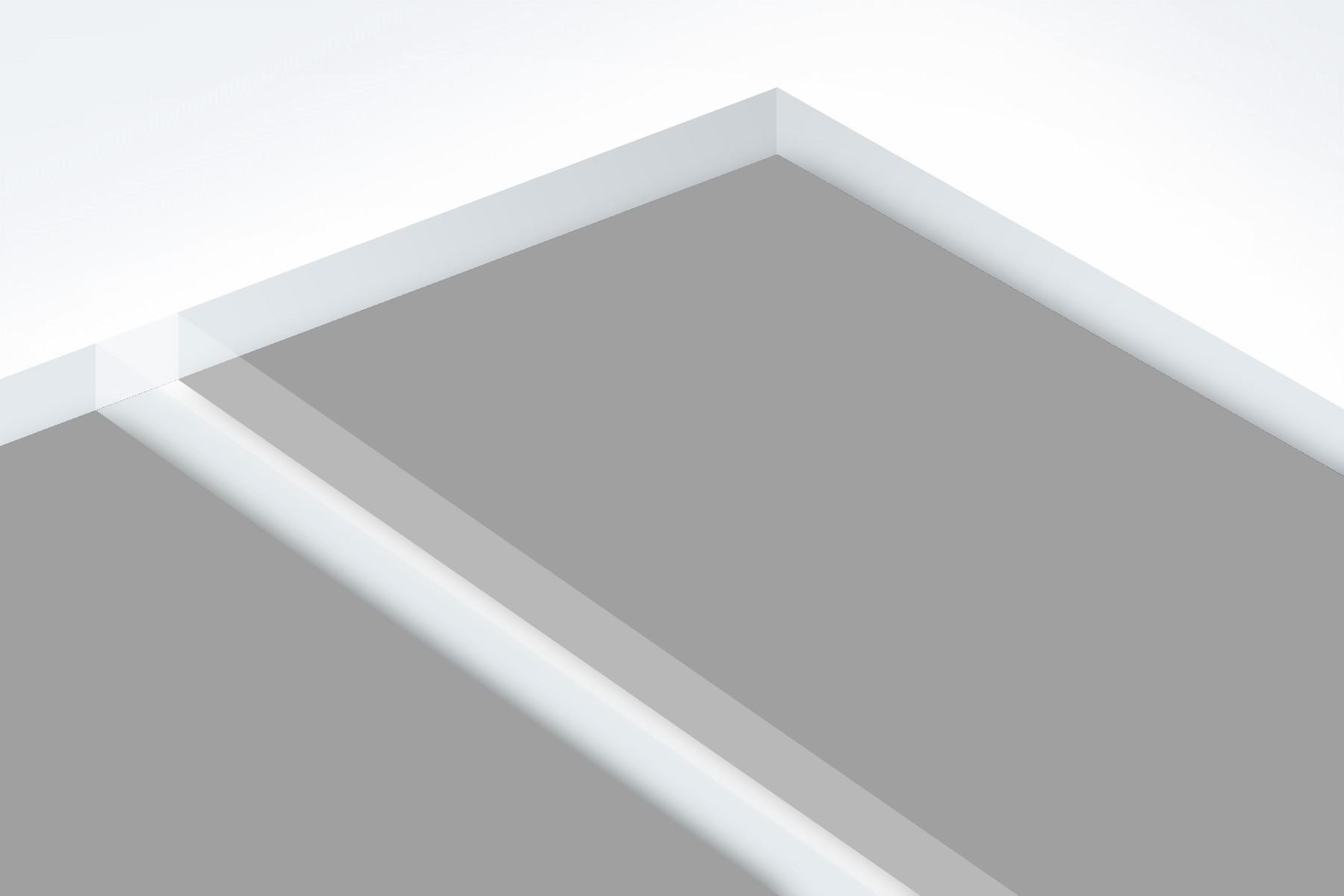 "Matte Clear/Grey 1/16"""