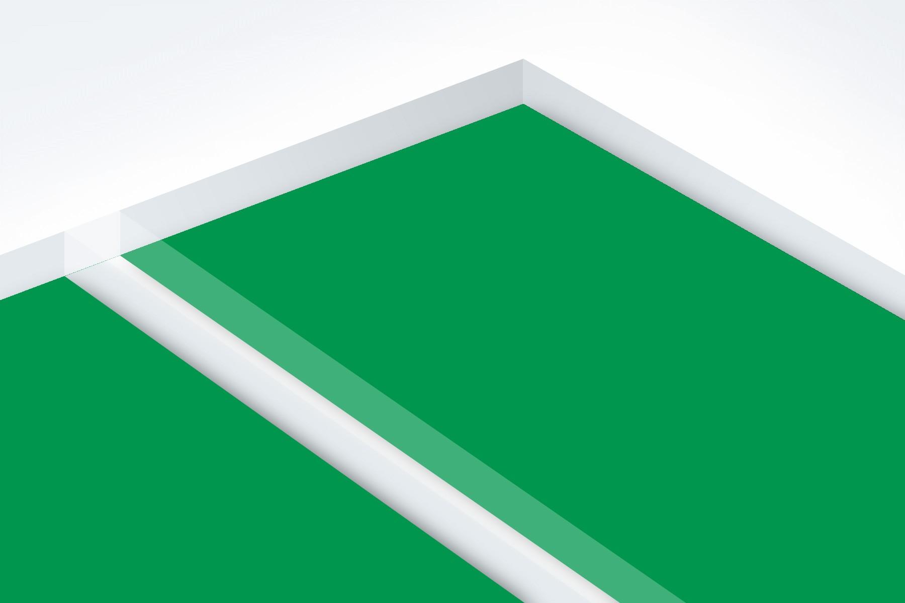 """Matte Clear/Pine Green 1/16"""""""