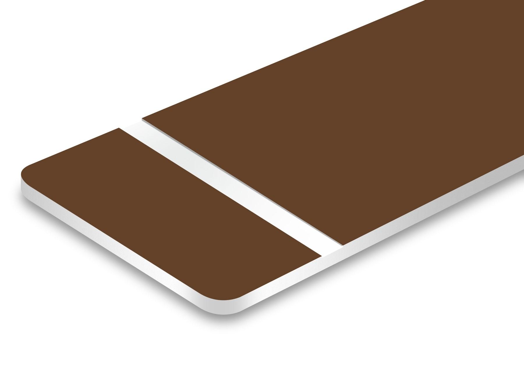 "Medium Brown/White 1/16"""